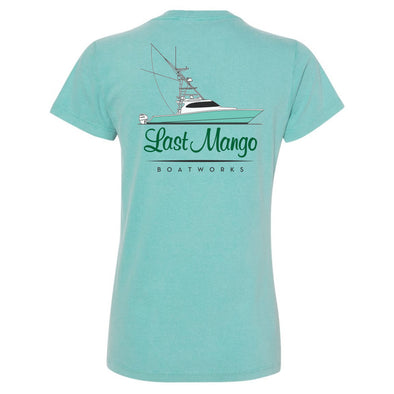 Last Mango™️ Women's Seafoam Cotton Short Sleeve V-Neck Shirt