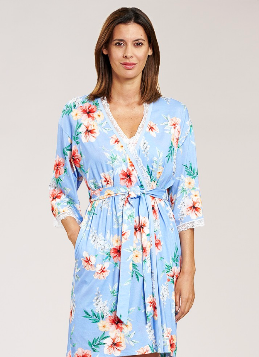 Robe in Hibiscus Flower Print