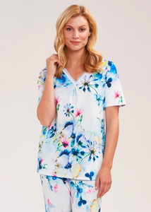 Pajamas in Flowerprint Blue Bell