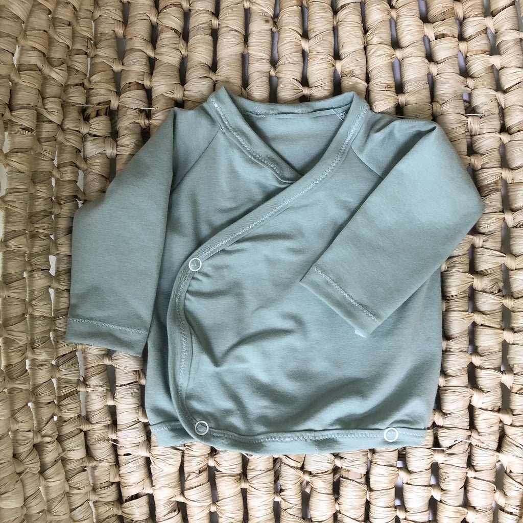 Newborn wrap top