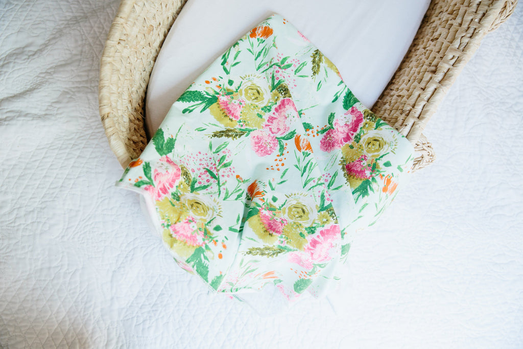 Summer Floral Swaddle Blanket for Babies