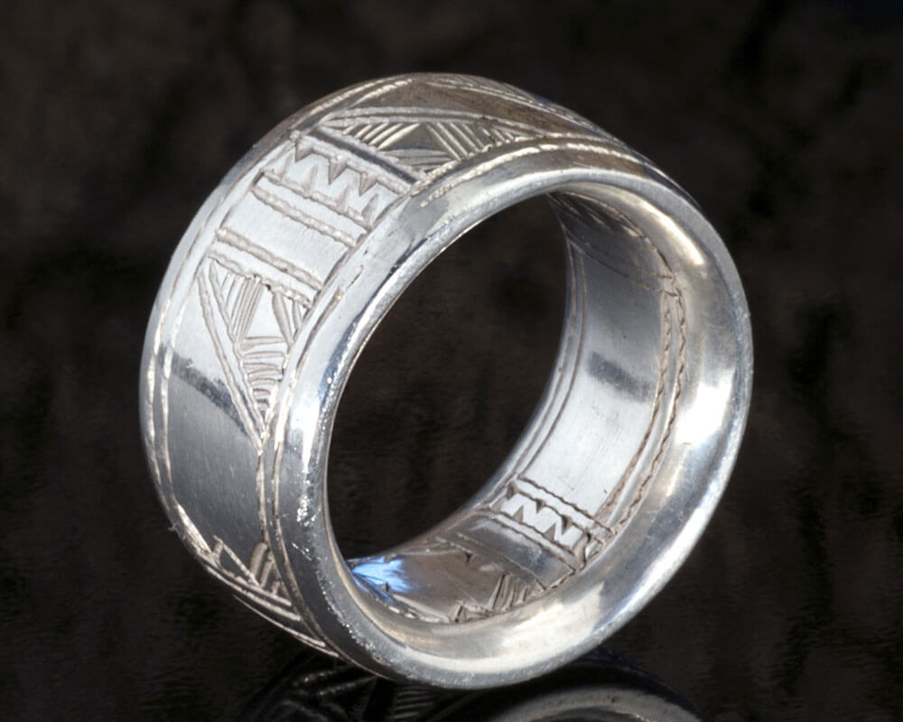 Engraved Silver Band