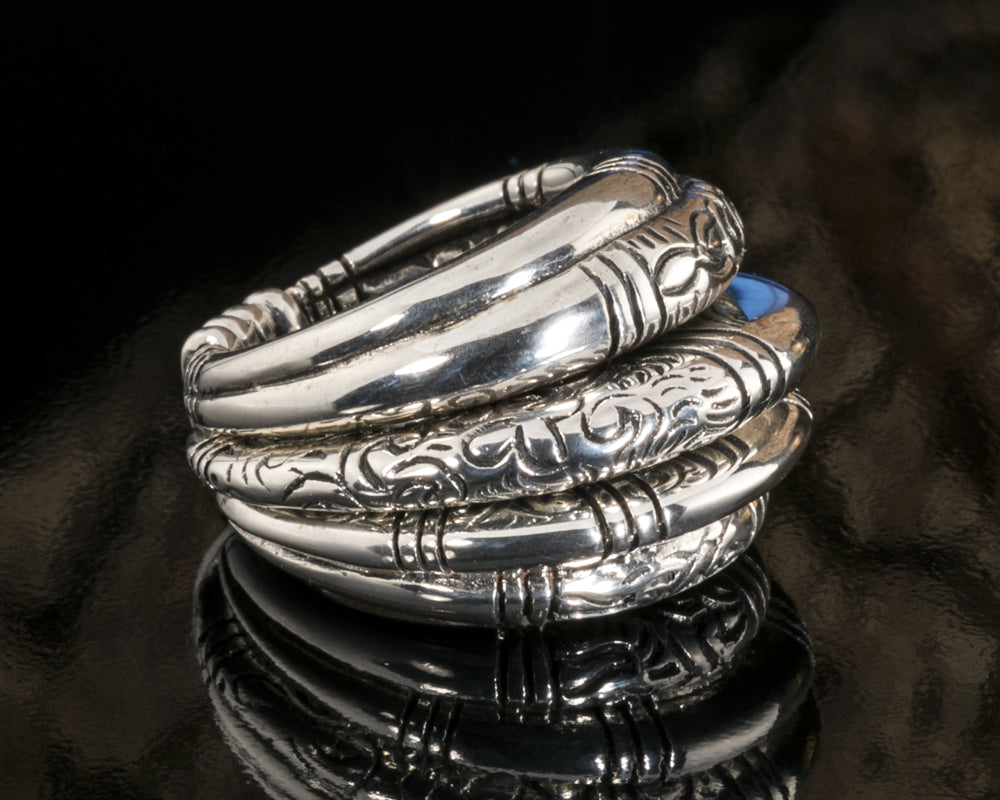 Silver Mountain Tribe 5-in-1 Ring
