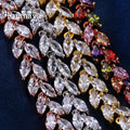 Superb AAA+ Cubic Zircon Four Colors Leaf Jewellery Bracelet- Best Online Prices by Jewellery Supermarket