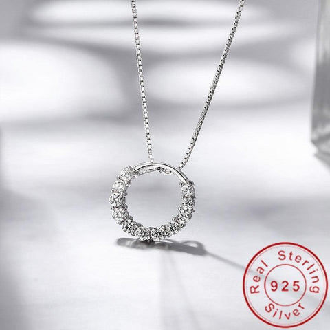 Exquisite 925 Sterling Silver Lab Diamond Pendant - Best Online Prices by Jewellery Supermarket