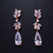Luxury Long Flower Drop Marquise Earrings - Best Online Prices
