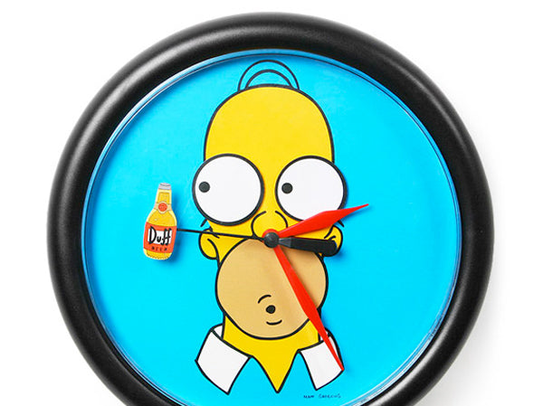 Unique creative wall clocks Homer Simpson