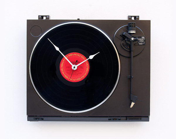 Unique creative wall clocks Recycled Technics Turntable