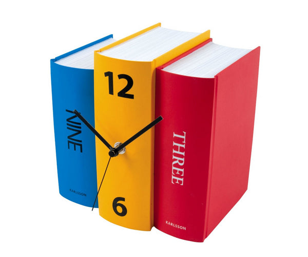 Unique creative wall clocks Table Clock Book