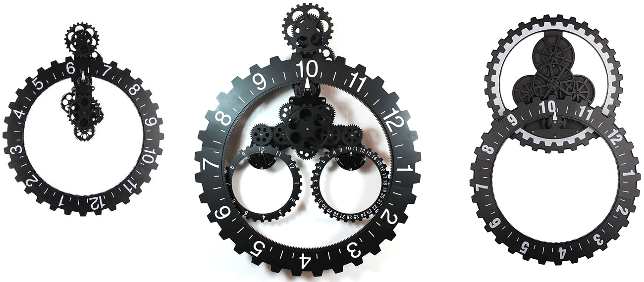 Industrial hand free gear clock