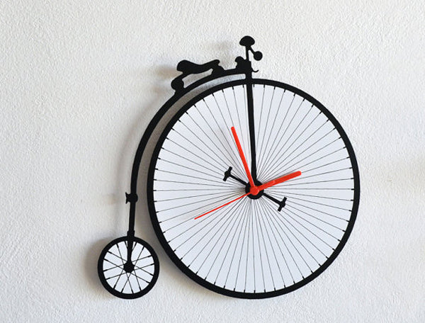 Unique creative wall clocks Penny Farthing