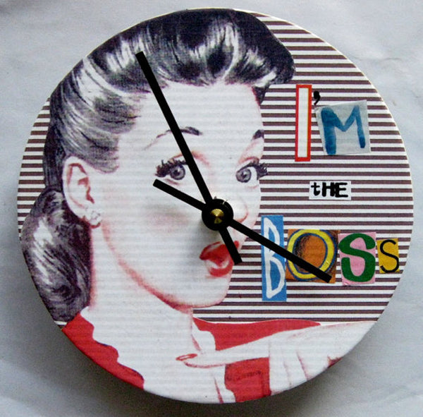 Unique creative wall clocks I'm the Boss