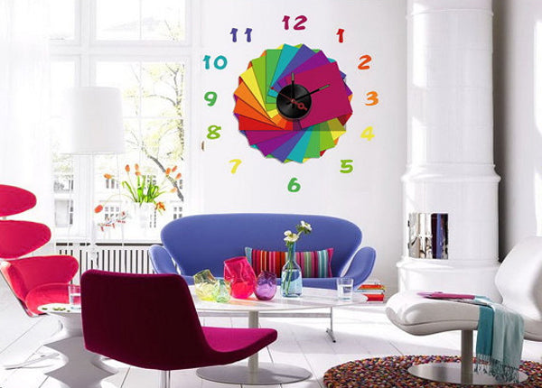 Unique creative wall clocks Vinyl Stickers