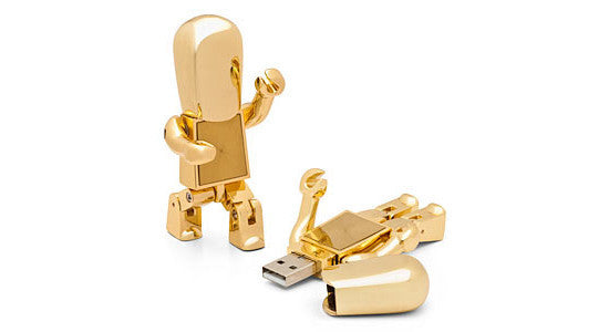 Golden USB Robot