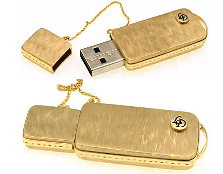 Gold and diamond USB flash drive