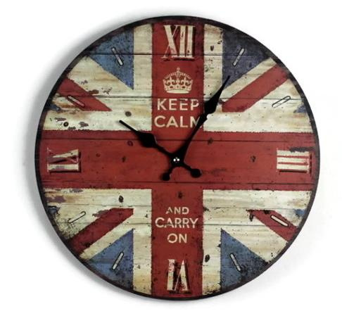 Unique creative wall clocks Union Jack British flag