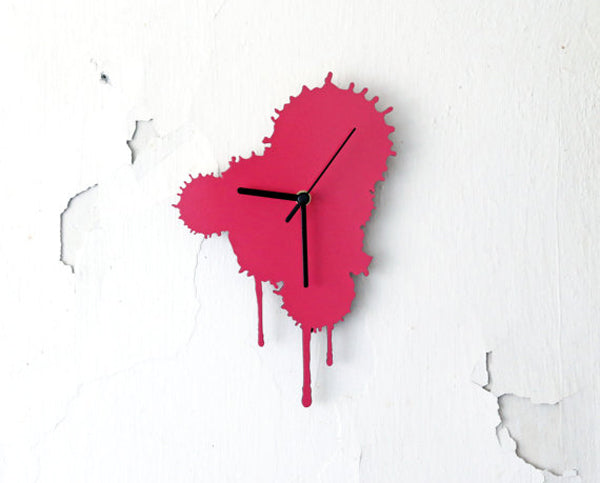 Unique creative wall clocks Ink Splatter