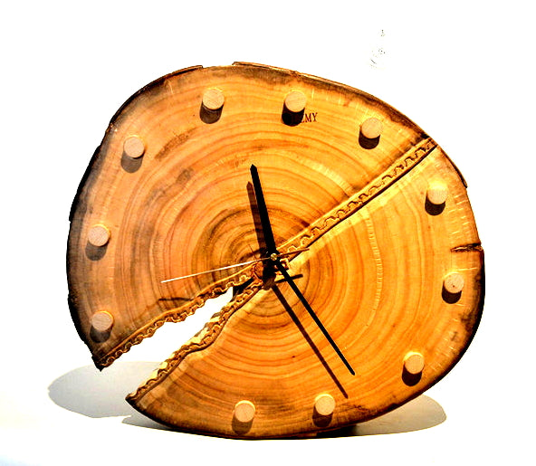 Unique creative wall clocks wood log clock