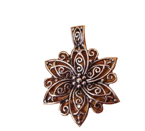 3pcs Lot Antiqued Silver Flower Pendant Extra Large | Statement Wholesale Charms