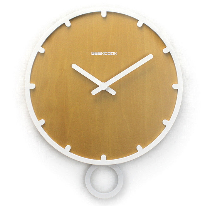 "Minimalist Wall Decor Accessories | 12"" Pendulum Wall Clock"