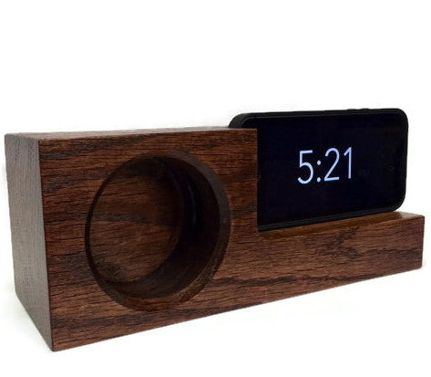Walnut iPhone Acoustic Amplifier Docking Station