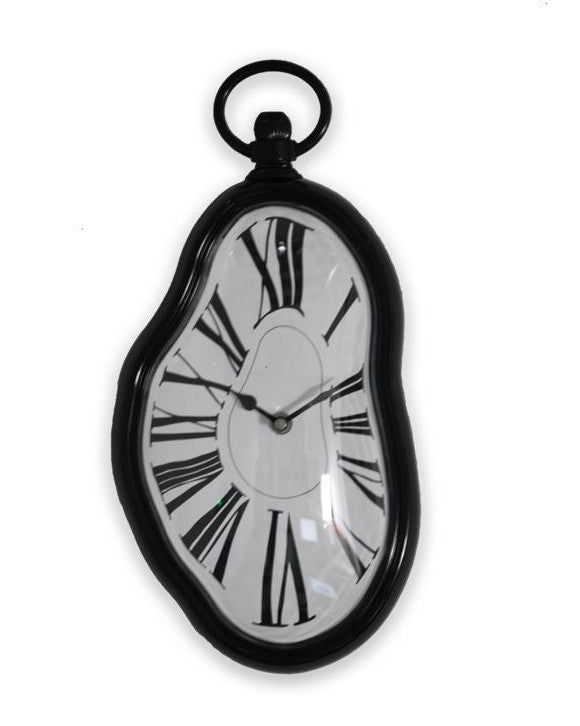 Unique Home Decor Accessories dali melting wall clock roman numerals | unique home decor