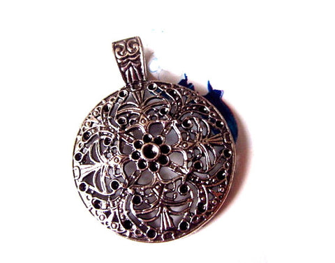 2pcs Antiqued Silver Pendants Extra Large | Statement Charms Set Wholesale Lot