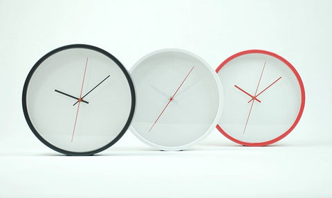 12 Inch Minimalist Decorative Wall Clock - 1PROY Driftwood & Healing Stones