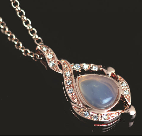 Rose Gold chalcedony Cabochon Pendant | Wholesale Gemstone Charms
