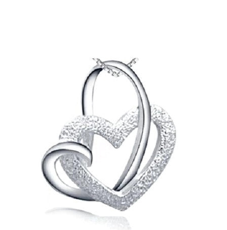 Silver Pendant Infinite Hearts | Wholesale Valentines Charms Jewelry DIY