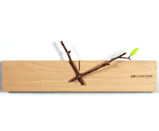 Unique Minimalist Wood Wall Clock Handcrafted Housewares