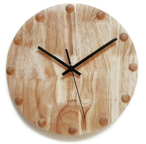 Handcrafted Wood Decorative Wall Clock | Primitive Decor Home Accessories - 1PROY Driftwood & Healing Stones