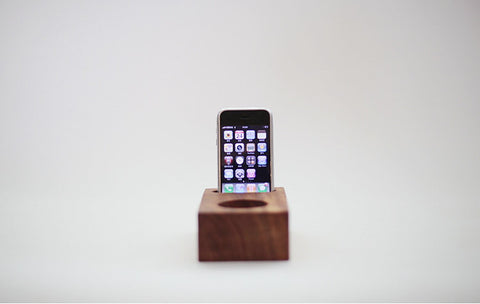 Acoustic Amps Wood Craft | iPhone Speaker Stand - 1PROY Driftwood & Healing Stones