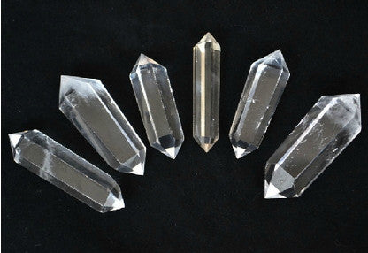 3pcs Clear Crystal Points Lot Double Terminated- Extra Large | Healing Crystal and Stones