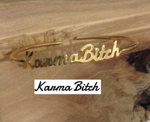 Personalized Signature Cuffs | Silver or Gold Name Bracelets | Bangles