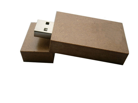 Cardboard USB Gadgets, Cool Flash Drives Upcycled Kraft Paper 8- 32 gb