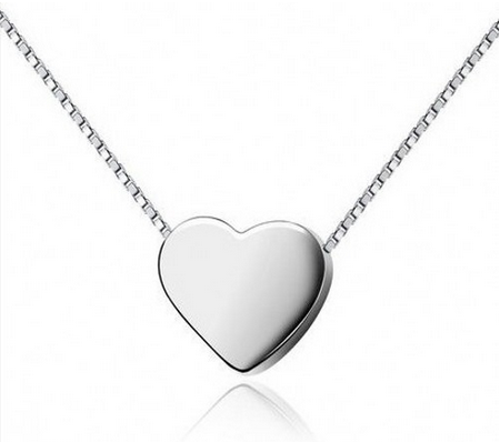 Silver Pendant | Small Simple Heart Charms Wholesale | Valentines Gift