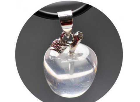 Super Clear Crystal Apple Pendant | Healing Crystal & Stones Supplies