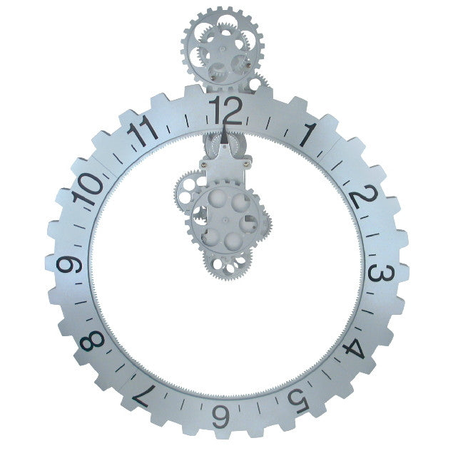 Extra Large Industrial Handsfree Gear Wall Clock Wall Decor