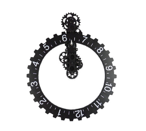 "Extra Large Industrial ""Hands-free"" Gear Wall Clock 