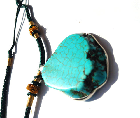 2pcs Turquoise Pendants w/ Wrapping | Healing Crystal and Stones Wholesale Lot