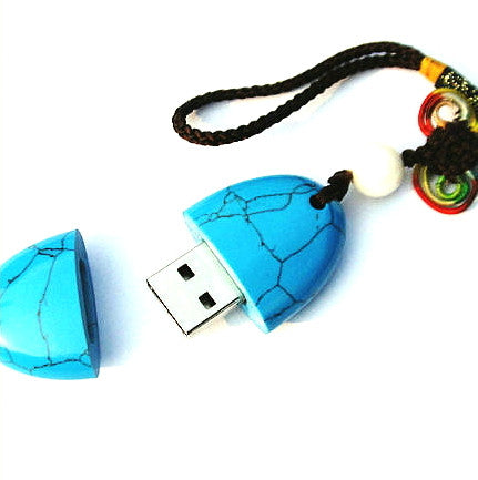Turquoise Stone USB 8GB 16GB 32GB | Creative Flash Drives