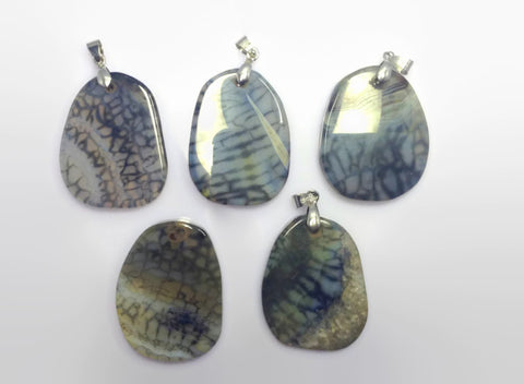 Agate Geode Pendants Lot | Healing Crystals and Stones Supplies - 1PROY Driftwood & Healing Stones