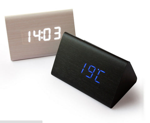 Wood LED Alarm Clock Sound Activation | Modern Decorative Clocks