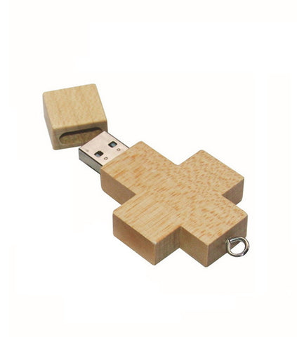 Wood USB Drive - Cross | Cool Flash Drives, Gizmos and Gadgets