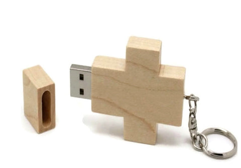 Handcrafted Cross Wood USB Drive | Cool Flash Drives, Gizmos and Gadgets