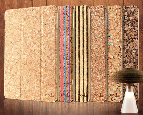 Cork iPad Air Case Slip Cover | Designer Mobile Accessories - 1PROY Driftwood & Healing Stones