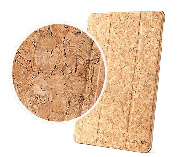 Unique Cork Slip Cover Case iPad Air 5 | Cheap Handmade Wood Accessories - 1PROY Driftwood & Healing Stones