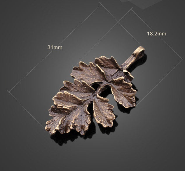 Wholesale Charms | Vintage Bronze Withered Leaf Pendants DIY Supplies - 1PROY Driftwood & Healing Stones