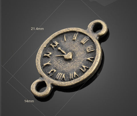 Bronze Clock Pendants - Classic Vintage Findings | Wholesale Charms